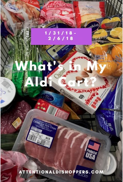What did I get this week? #aldi #grocery #cart #grocerycart