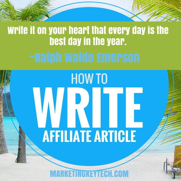 101: HOW to WRITE #Affiliate Article: http://marketingkeytech.com/blog-marketing/how-to-write-a-best-affiliate-article/