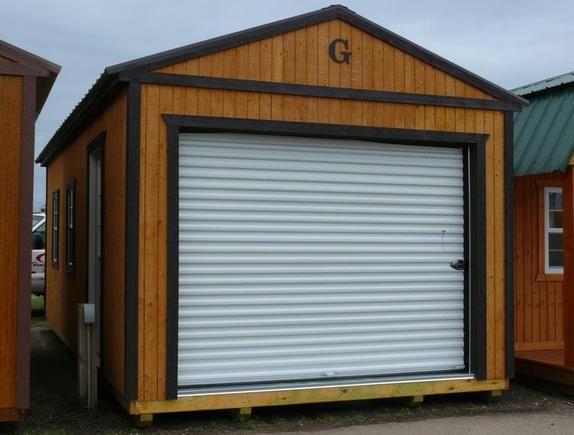 30 best portable sheds images on pinterest metal roof minnesota 12x24 portable garage honeygold stain dark brown trim dark brown solutioingenieria Image collections