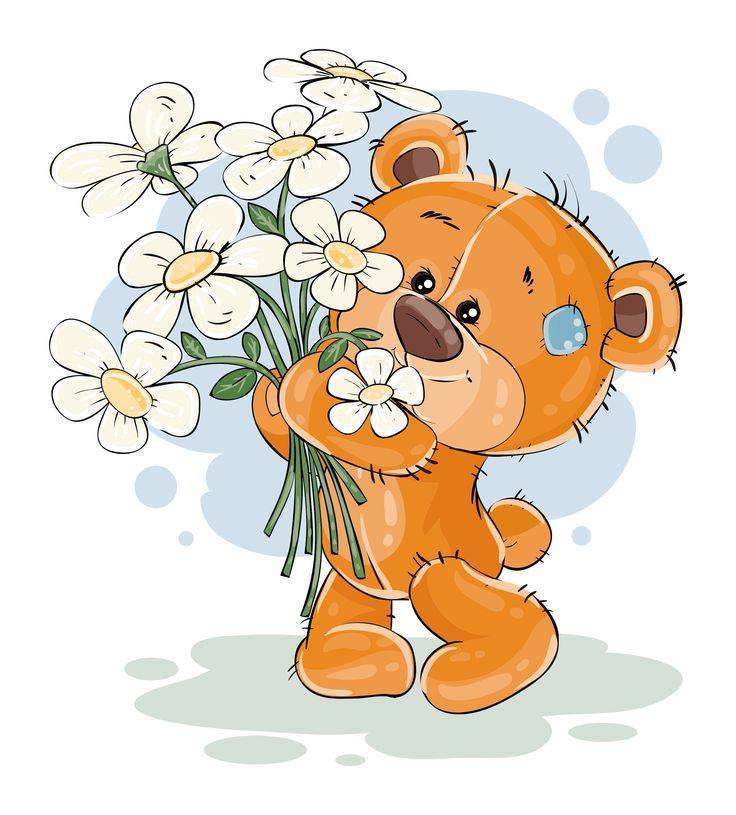 Доктора айболита, мишка с цветами картинки для детей