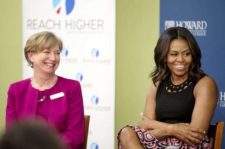 Michelle  Obama  offered high school seniors some advice on applying to college during a visit at Howard Community College Thursday.