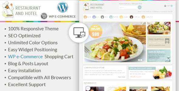 Restaurant - Wordpress E-Commerce Theme - http://fitwpthemes.com/restaurant-wordpress-e-commerce-theme/