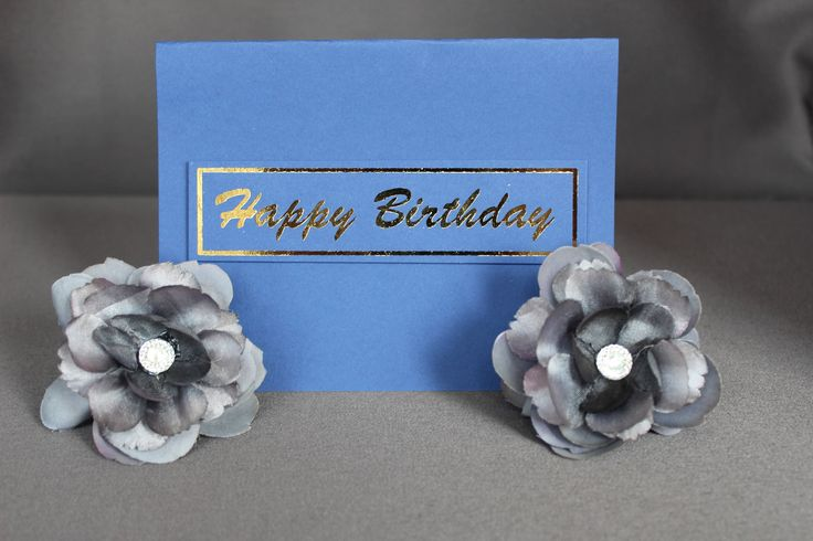 Blue Happy Birthday Cards With Gold Foil by DazzlingCreationsCA on Etsy