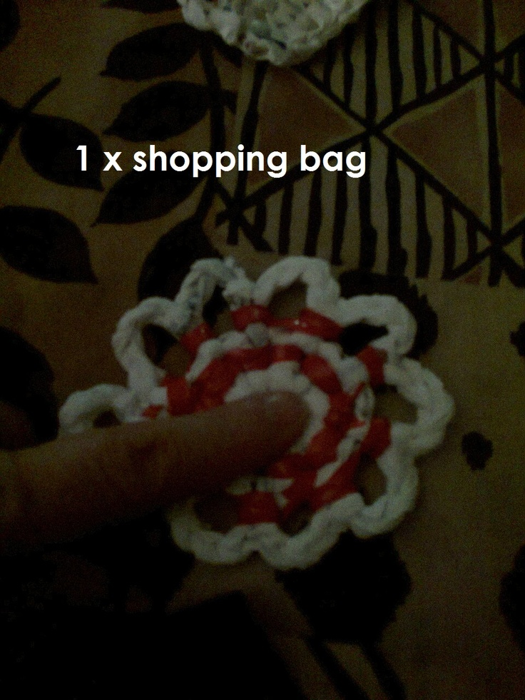 this is an example of what can be croched with one plastic bag!