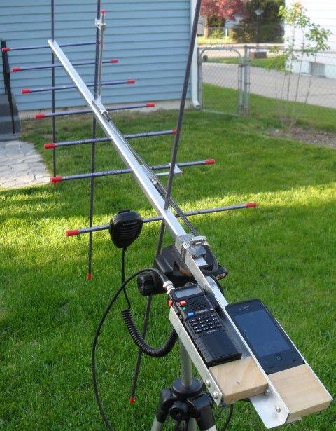 Amateur radio satellite antennas