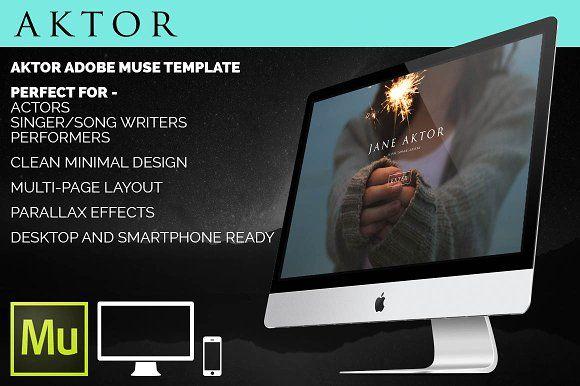 Aktor - Adobe Muse template by Daniel Cobb Design on @creativemarket