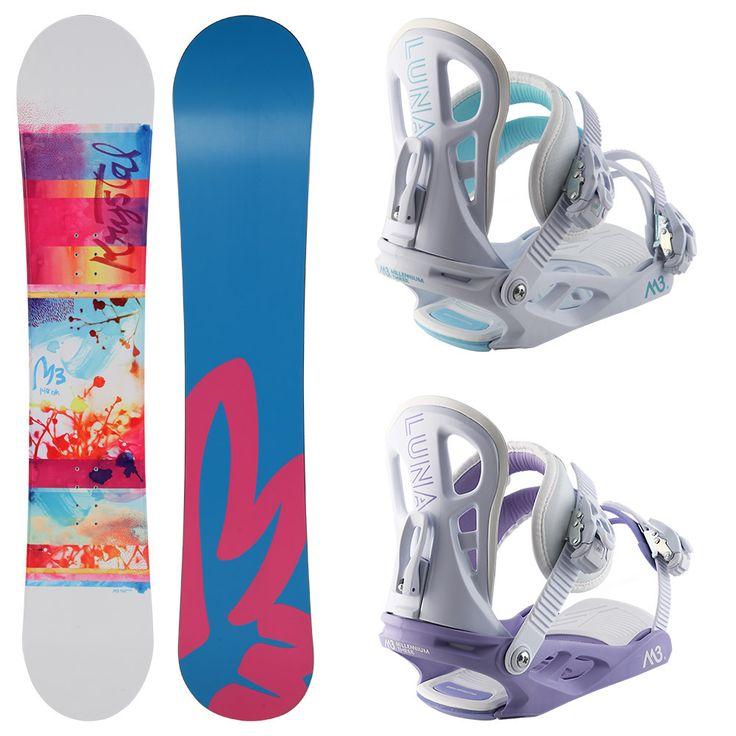 M3 Women's Krystal Board & Luna Binding Package   Buy Snowboard Packages Online   Shop @ Torpedo7