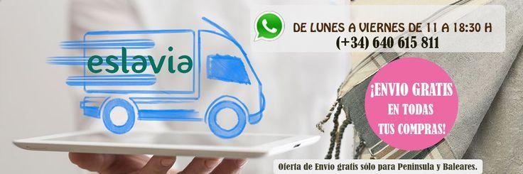 Envío gratis de todos nuestros productos a Península y Baleares.