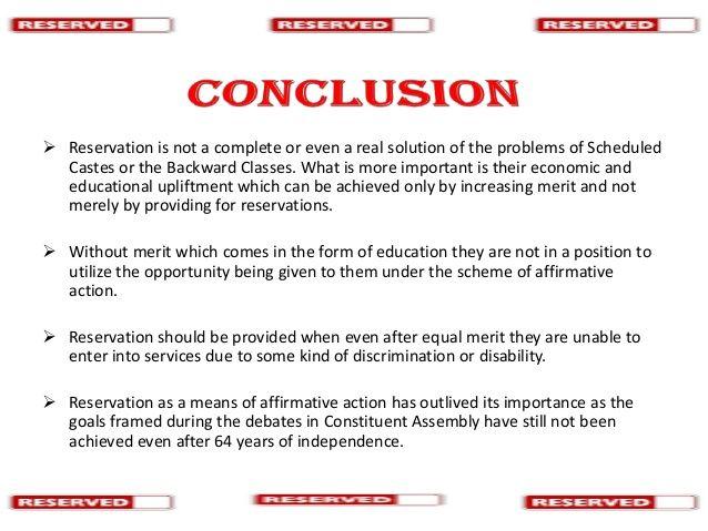 Reservation in India http://www.slideshare.net/PRAVEEN4U/reservation-in-india?next_slideshow=1