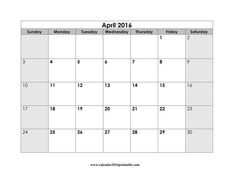 April Calendar You Can Edit : Free april calendar that you can download customize