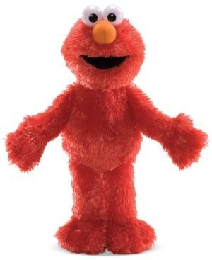 "The super-soft and oh-so-sweet Sesame Street Elmo doll is a cute and cuddle companion for your baby. | Polyester fibers/polyethylene pellets/polyethylene stiffers | Imported | Elmo measures 12"" tall 