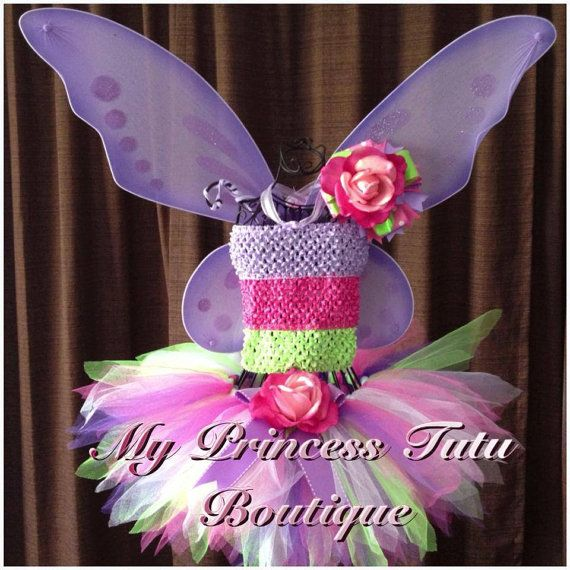 Rose Fairy Halloween Costume Fairy Tutu by MyPrincessTutuBoutiq
