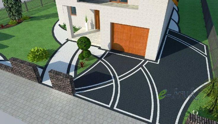 Znalezione obrazy dla zapytania kostka brukowa przed domem