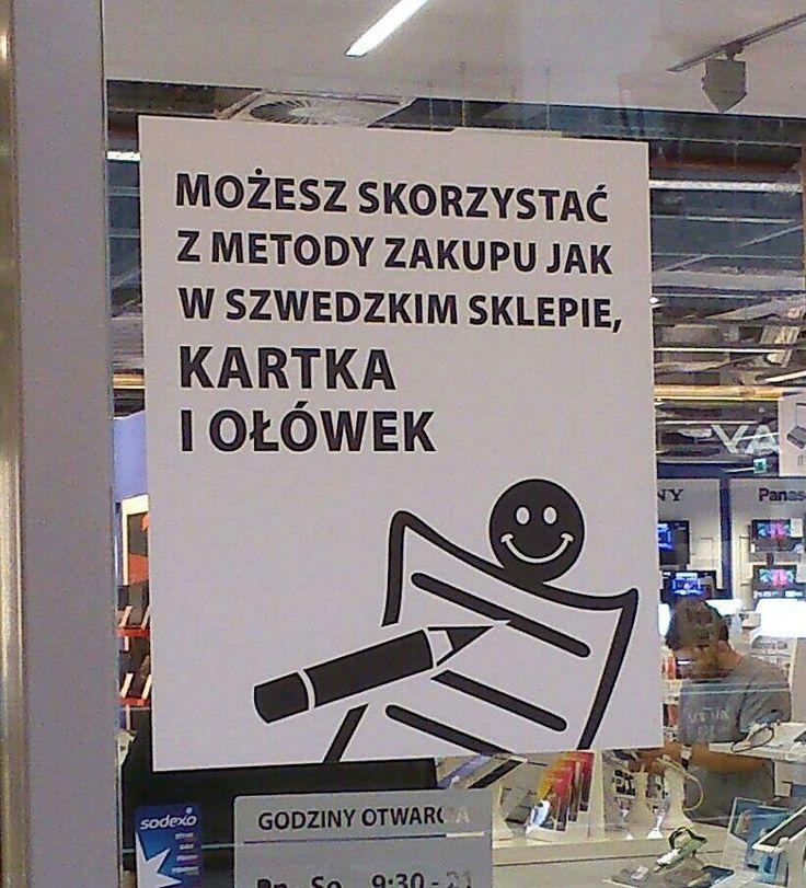Copying IKEA way of shopping in electronic shop.
