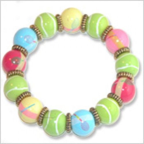 Preppy Tennis Bracelet  $18  Good gift for team captain or tennis partner