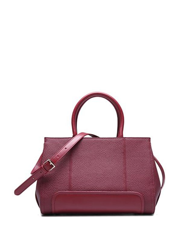 Fashion Solid Leather One Shoulder Bag For Women