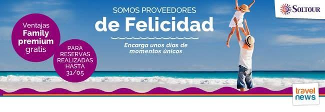"""Nueva promoción de Bahía Principe en Punta Cana, Samaná o Riviera Maya, con la que podrás podrás beneficiarte de las ventajas """"Family Premium"""" gratis si reservas antes del 31 de Mayo. """"Family Premium"""" es una promoción especial para disfrutar de las vacaciones, en habitaciones especiales para familias, con descuentos, regalos y actividades pensadas para el disfrute tanto de los más pequeños como de sus padres. Consúltanos y te contaremos todos los detalles! www.formigatours.com"""