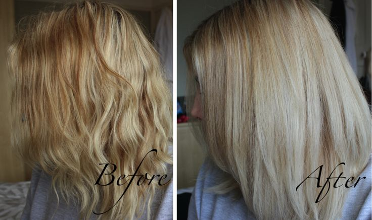 L'Oreal Brightening Blonde Toner Shampoo Before:After