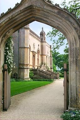 Entrance to Lacock Abbey, Wiltshire, UK was founded in 1232. After the dissolution of the monasteries in 1539 it was converted into a home by Sir William Sharrington. One of his descendants Henry Fox Talbot was the first to produce a photographic negative