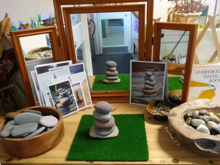 """Building stone cairns from Rachel ("""",)"""