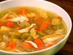 Spiced Chicken Soup from the Barefoot Contessa - Unless you LOVE dill, omit it.