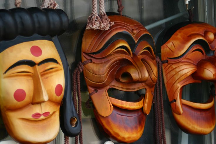 Traditional Korean mask.