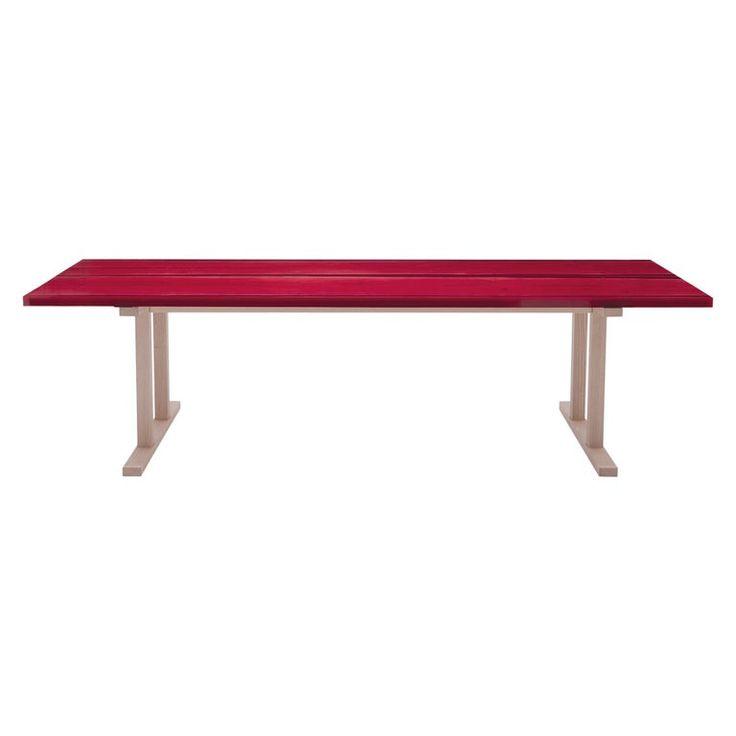 Udukuri Epoxy Resin Table In Magenta By Jo Nagasaka For Established & Sons
