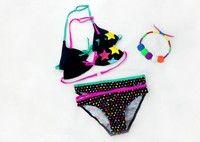 Wish   Baby Toddler Girls Kids Swimwear Floral Bikini Swimsuit Tops+Bottoms 2 PCS Set