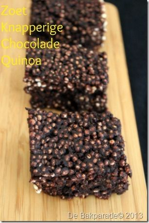 Gepofte Quinoa Chocolade Repen - De Bakparade