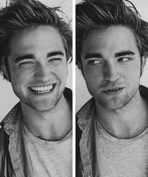 Robert Pattinson. The pic on the right is just perfect!