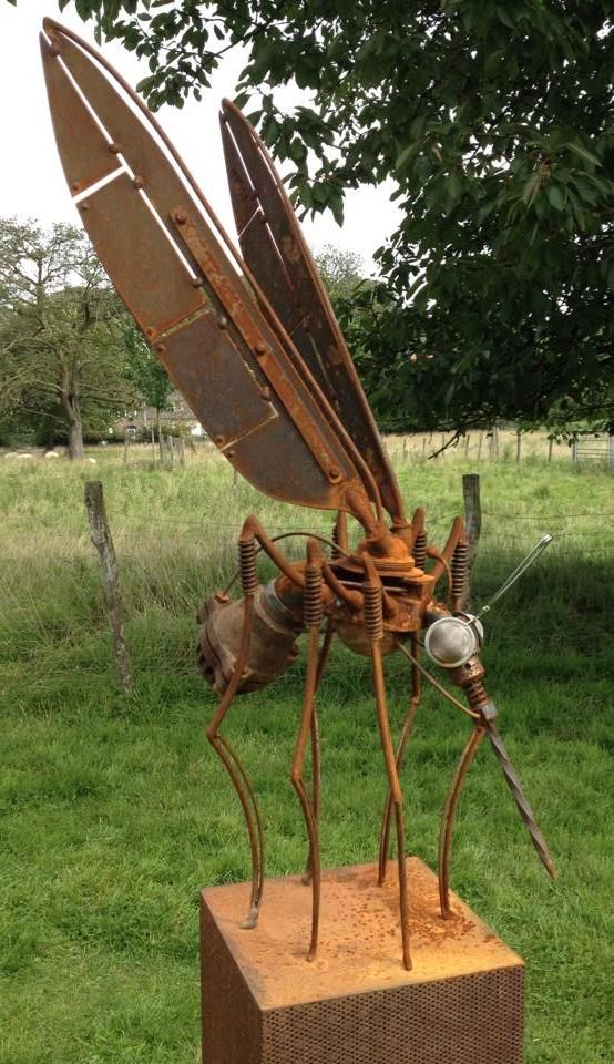 Mosquito from recycled metal components
