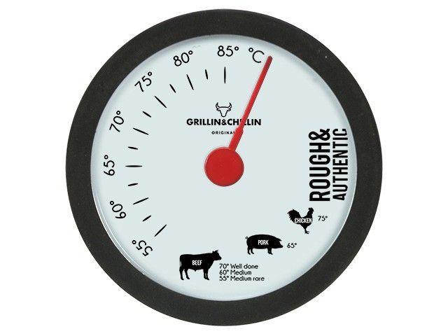 Gusta BBQ thermometer. RVS vleesthermometer met siliconen afwerking.Thermometer heeft een bereik van 55 tot 85 graden celcius. Niet bestemd voor gebruik in de oven.