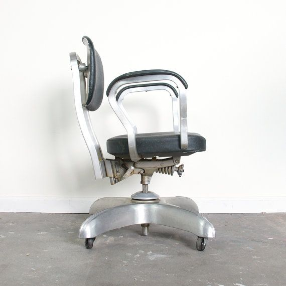 industrial office chair. mid century industrial office chair swivel by spunkvtg 15600 a
