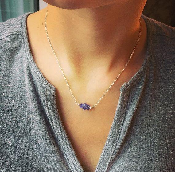 Tanzanite Necklace/ tanzanite/ blue/ gemstone/ by angelovajewelry