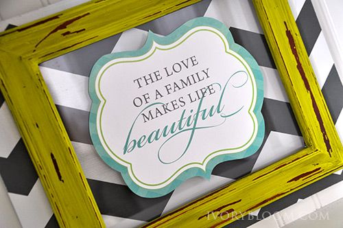 The love of a family makes life beautiful  FREE printable #IvoryBloom