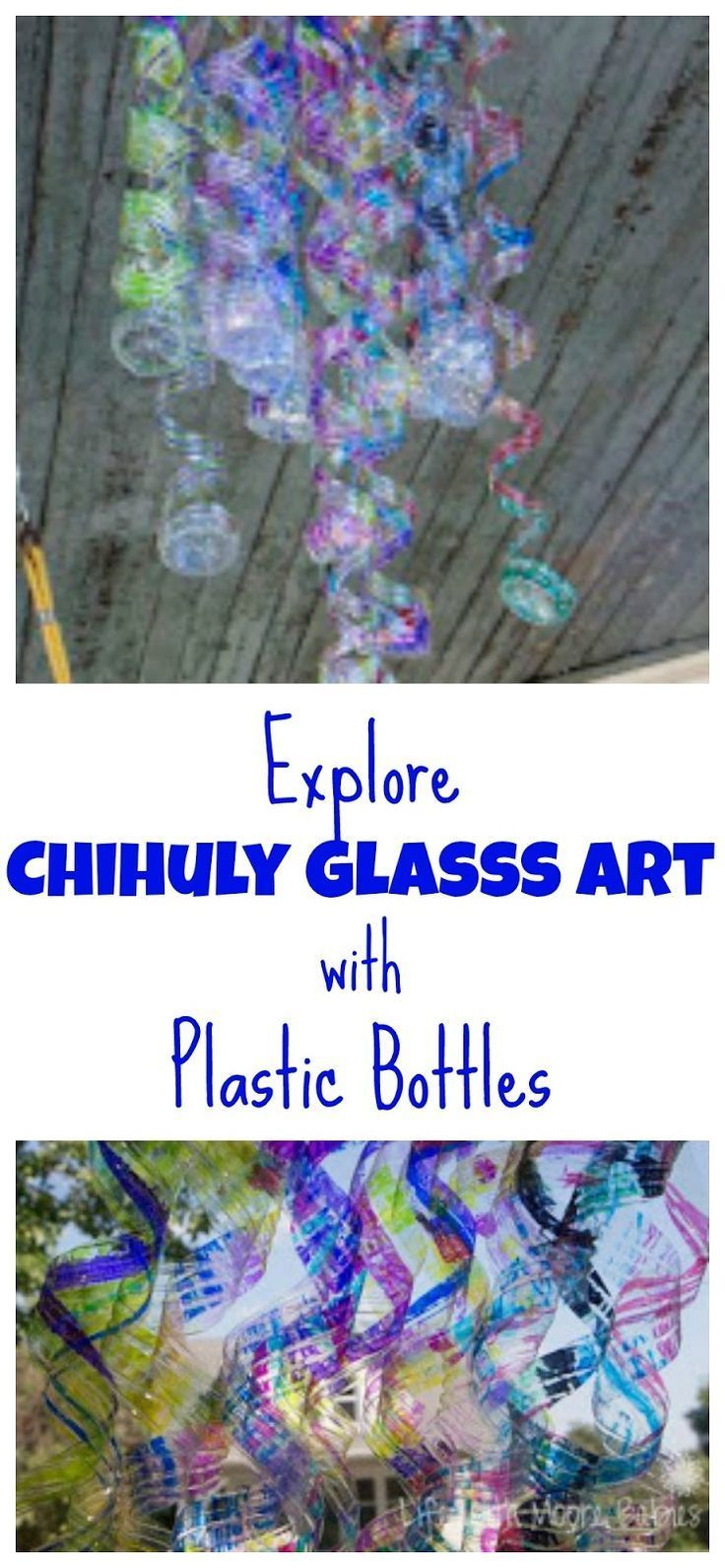 A fun sculpture project for kids that uses recycled materials to resemble glass sculpture.