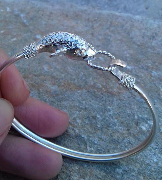 Bracelet sterling silver dolphin boho bracelet cuff