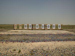 Border patrol target range, Boca Chica highway, near Gulf of Mexico, Texas, 2013