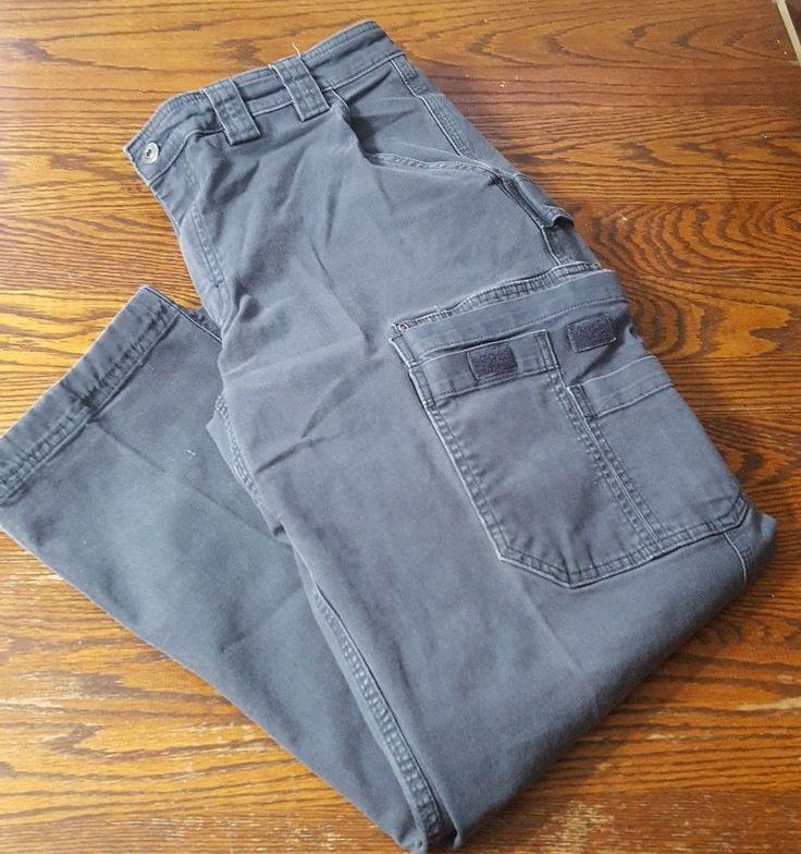 Duluth Trading Flex Fire Hose Mens 36 x 30 Gray/Steel Blue Cargo Work Pants #Duluth #Cargo Paid $3.00