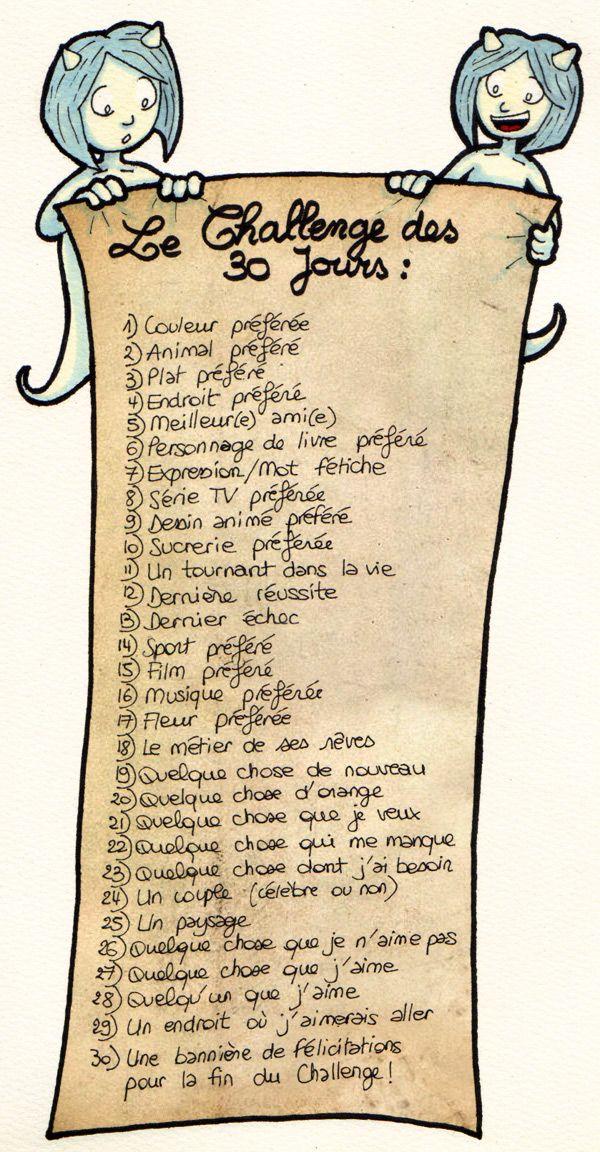 Le Blog de Savousepate - Le Challenge des 30 jours #30dayschallenge #ChallengeDes30Jours