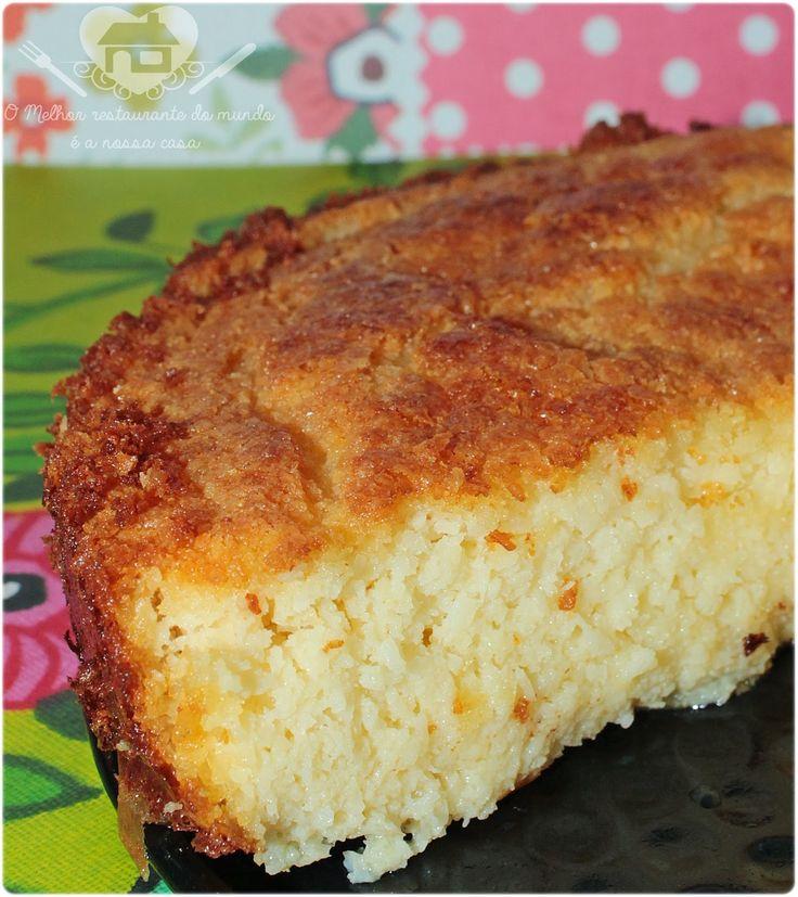 Bolo de coco tipo queijadinha sem farinha - O melhor restaurante do mundo é a nossa Casa
