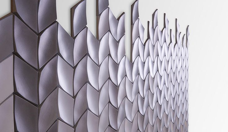 Specified for decorative wall applications, these glass-reinforced concrete tiles are easy to install and lighter than traditional stone. Five modern patterns are offered (Swoon is shown) in five neutral colourways:...