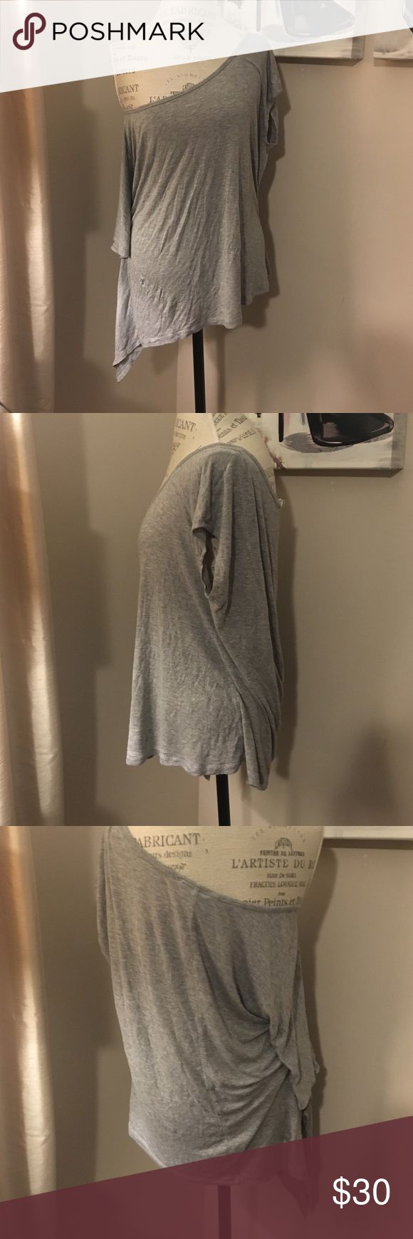 BCBGeneration top Grey off the shoulder top. Worn twice. In mint condition. BCBGeneration Tops