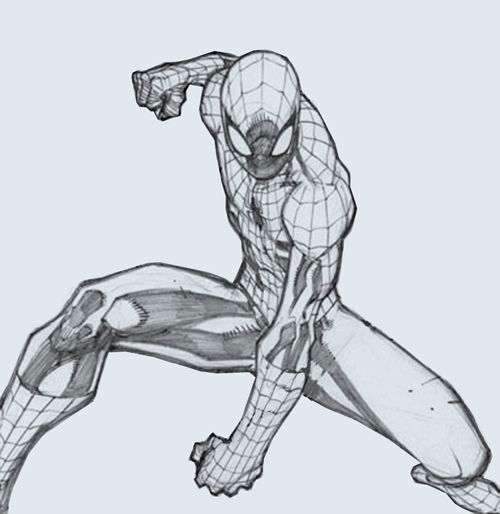 drawing spiderman poses - Google Search