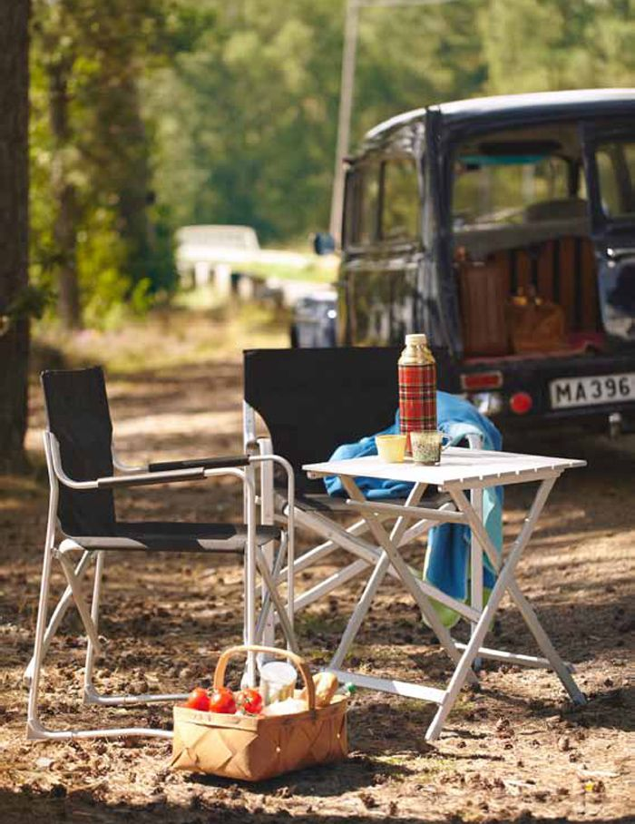 Go where you never need reservations. Bring along folding KALVÖ outdoor furniture.