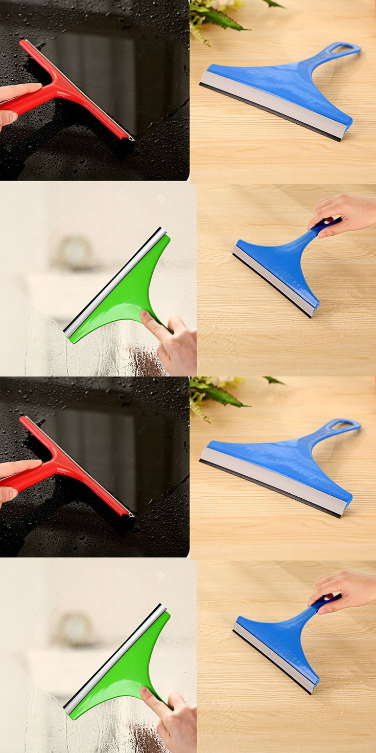 New Silicone Blade Cleaning Shower Screen Durable Colorful Window Mirror Car Windshield Glass Wiper With Detergent Squeegees