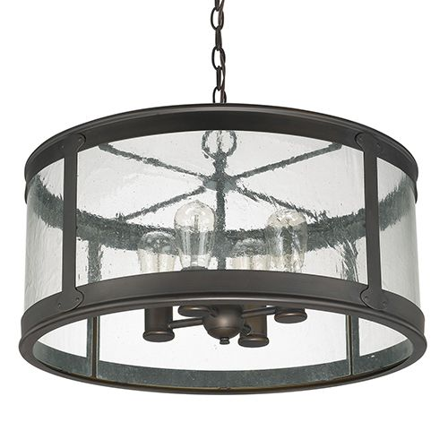 Capital Lighting Fixture Company Dylan Old Bronze Four Light Outdoor Semi Flush With Antique Glass