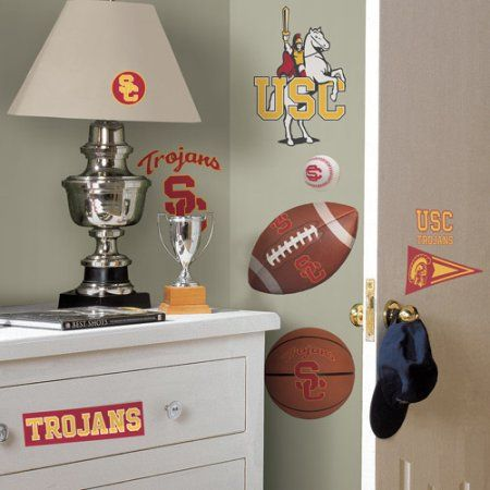 RoomMates University of Southern California Peel and Stick Wall Decals, Clear
