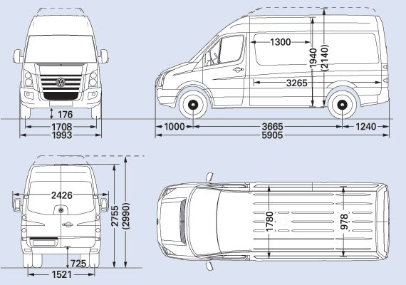 VW Crafter CR50 MWB