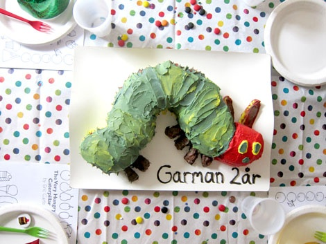 My cake for my son's 2nd birthday. The Very Hungry Caterpillar. #happy